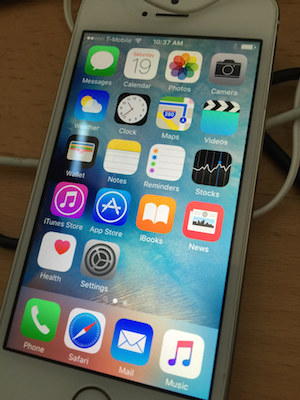 A wiped iPhone 5s restoring only the activity and health data.