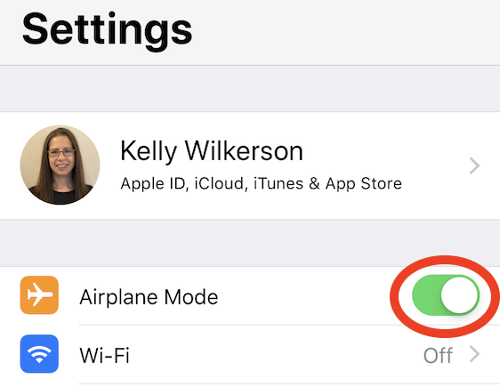 Fix a corrupt or not compatible iTunes backup by turning on Airplane Mode during the restore.