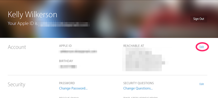 Edit your Apple ID account settings