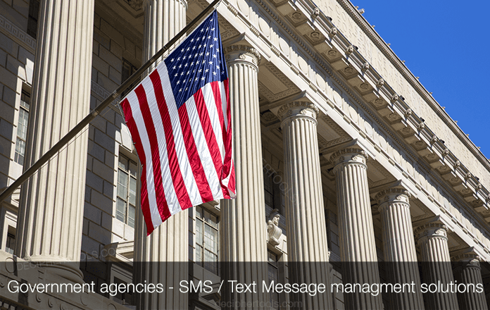How government agencies manage, save, and print text messages and SMS data.