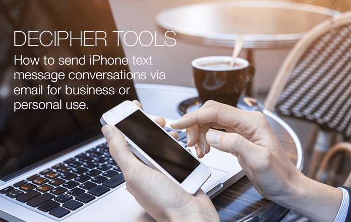 Send any iPhone text messages to someone via email.