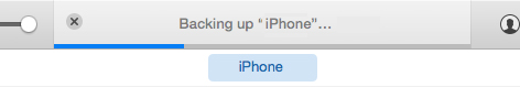 Backup progress bar in iTunes