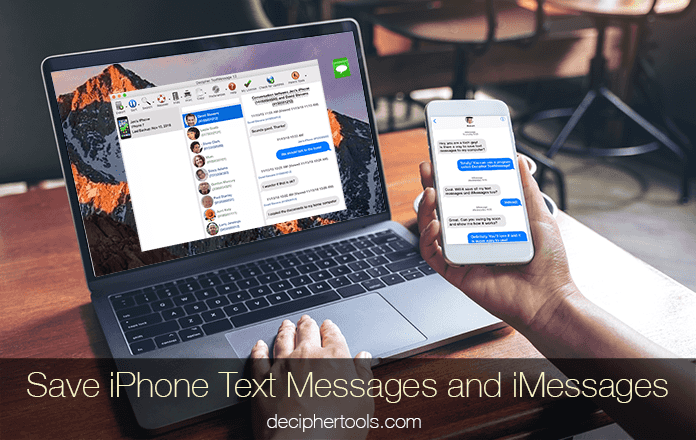 How to save and export iPhone text messages and iMessages.