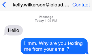 How to stop sending iMessages from your email address.