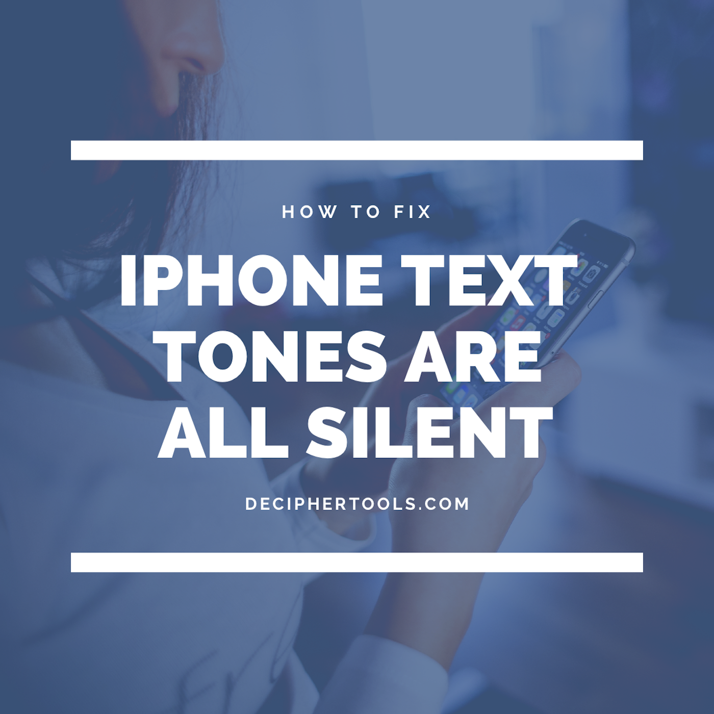 iPhone Text Tones are All Silent