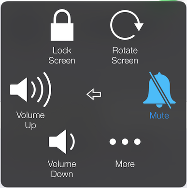 Control your iPhone volume and mute settings from the Device section of the Assistive Touch menu