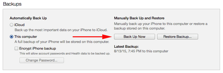 how to make a local iTunes backup of your iPhone