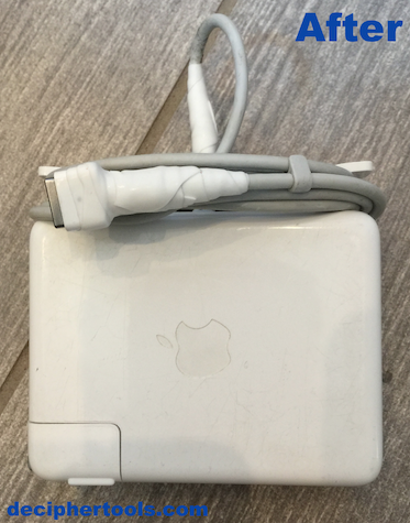 Repaired MacBook Pro power cable.