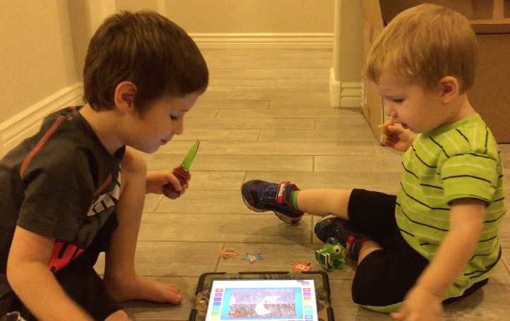 My own kids, playing on an iPad