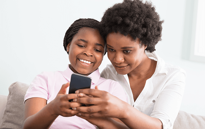 Tips on how parents can view and access their child's text messages.