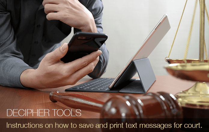 How to Print Text Messages for Court - Android and iPhone