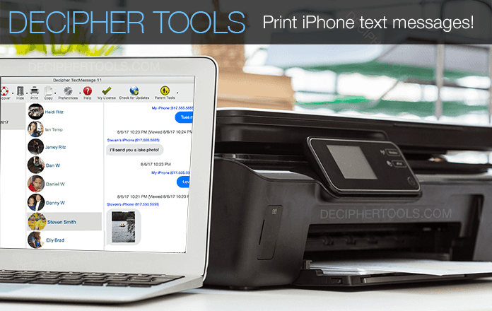 Print text messages on computer iPhone or iPad.