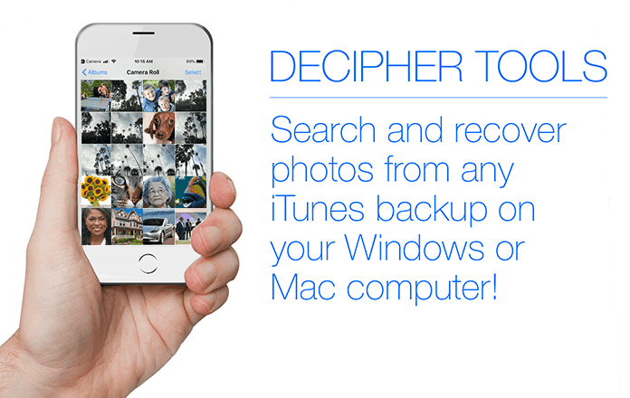 How to search and recover photos from an iTunes backup - iPhone