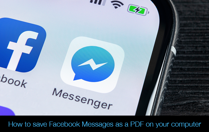 Save Facebook Messenger Messages as a PDF