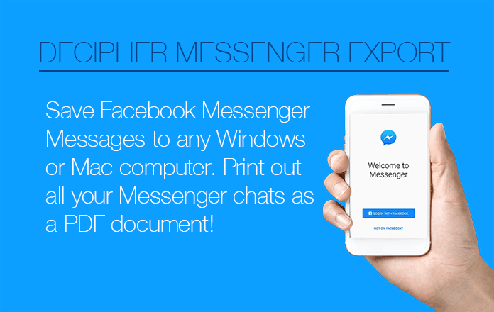 Instructions on how to save Facebook messages to computer.