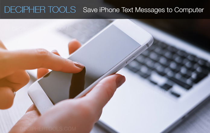 Follow these steps to save iPhone text messages to computer on any Mac or PC.