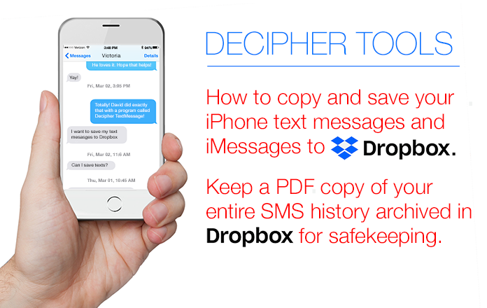 saved messages on iphone how to save text messages and imessages to dropbox 2671