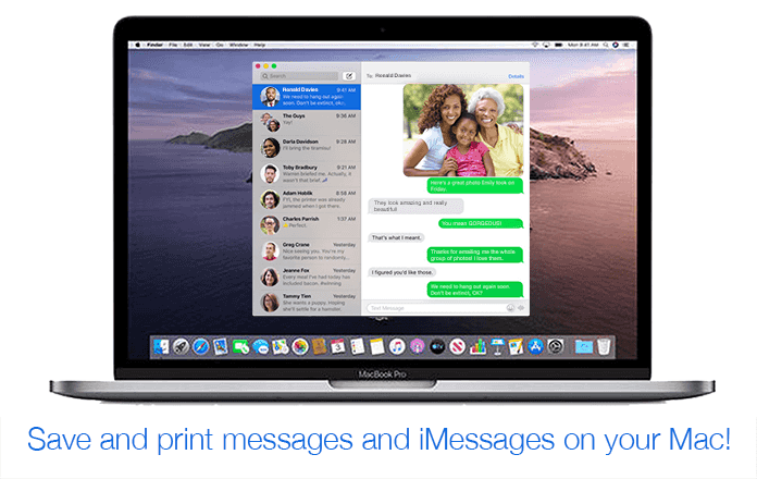 How to print and save messages and iMessages on your Mac from the Messages app.