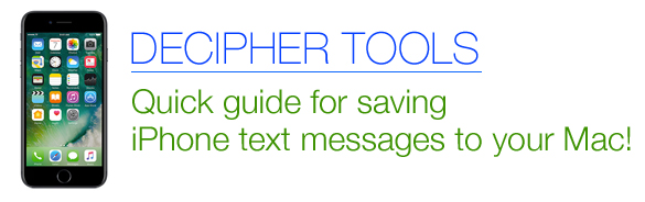 Step by step guide for saving iPhone text messages to your Mac