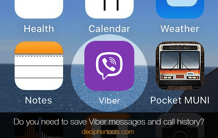 Do you need to save Viber chats and messages as well as call history?