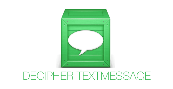 Using Decipher TextMessage to save text messages for a divorce case