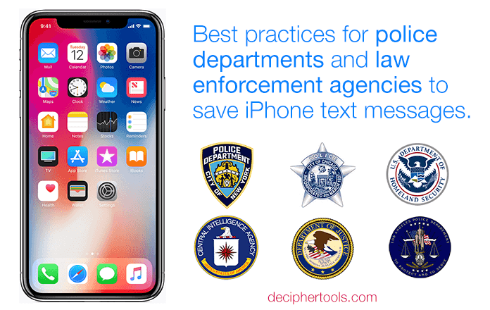 Police and Law Enforcement - How to save text messages and recover