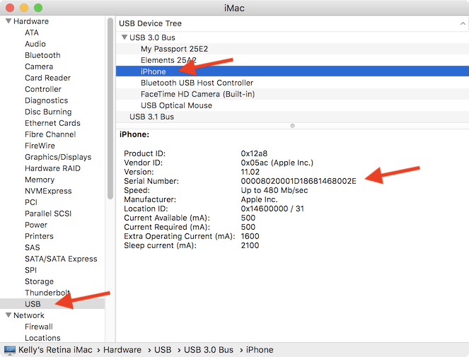 locate ipad by serial number