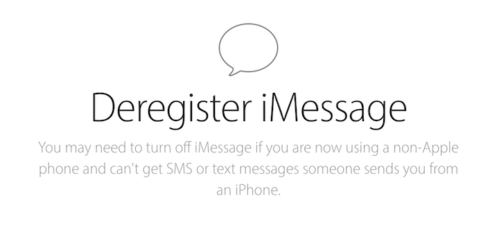 You may need to turn off iMessage if you are now using a non-Apple phone and can't get SMS or text messages someone sends you from an iPhone.