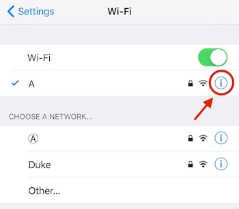 how to turn off auto wifi on ios 11