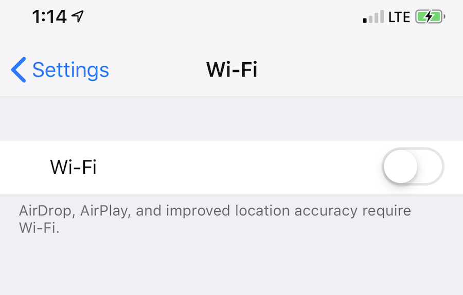 Iphone Wifi Switch Won T Turn On Iphone Disconnects From Wifi