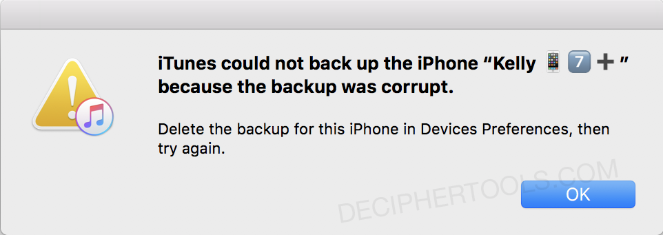 How to Fix: iPhone Backup Corrupt or Not Compatible (Backup