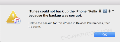 How to Fix: iPhone Backup Corrupt or Not Compatible (Backup and Restore)