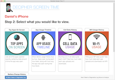 Monitor your Teen's iPhone use with Decipher ScreenTime.