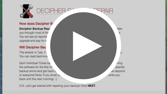Video: Fix Corrupt iPhone Backups with Decipher Backup Repair