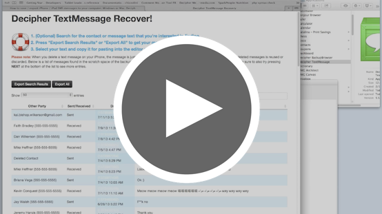 Video: Recover Deleted Text Messages with Decipher TextMessage