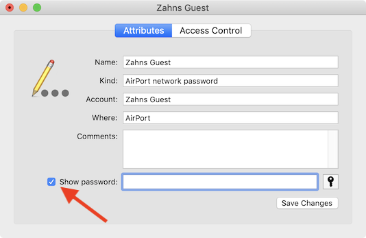 show password for wifi passwords in Keychain Access
